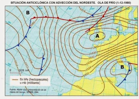 Mapa de presión atmosférica