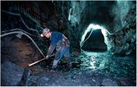 Mina subterranea de pizarra.