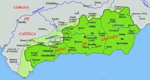 Reino Nazarí de Granada / Fuente: Wikipedia
