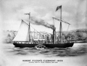 Barco de vapor de Fulton / http://direcciondeminuevoblogo.blogspot.com