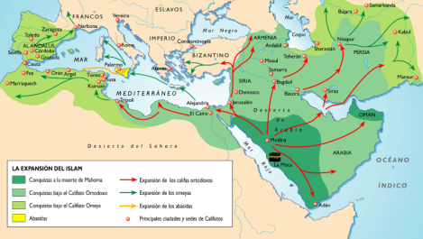 Expansión musulmana / Fuente: http://yksimery.blogspot.com.es
