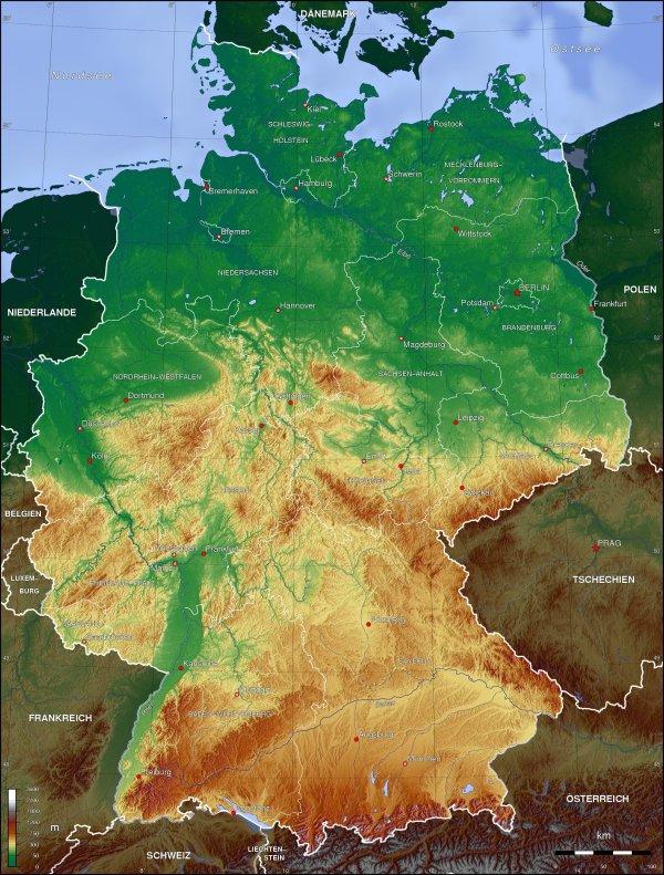 deutschland-topographie