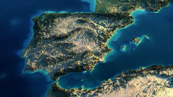 mapa-fc3adsico-de-portugal-con-relieve-en-3d