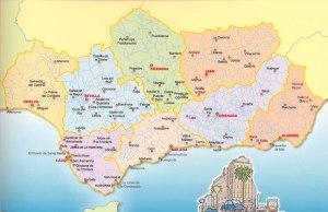 Mapa de las ciudades andaluzas