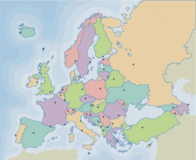 Paises Bajos Mapa Politico