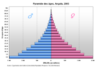 Pirámide de población de Angloa